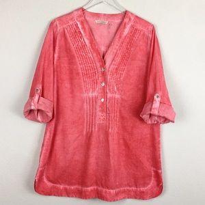Soft Surroundings | Pink Blouse | Medium